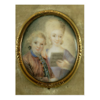 Wolfgang Amadeus Mozart  and his sister Postcards