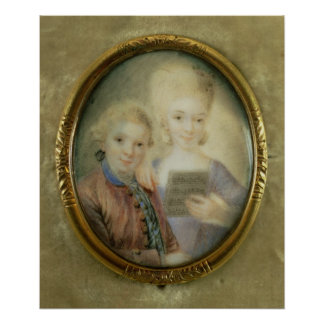 Wolfgang Amadeus Mozart  and his sister Poster