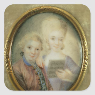 Wolfgang Amadeus Mozart  and his sister Square Sticker