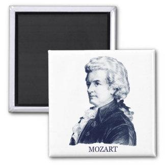 Wolfgang Amadeus Mozart azul Imán Para Frigorifico