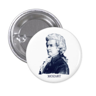 Wolfgang Amadeus Mozart azul Pins