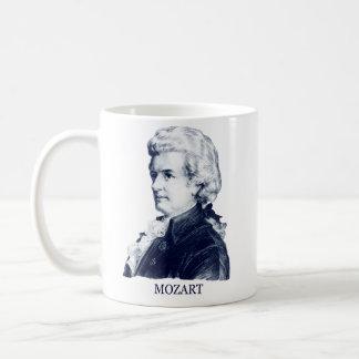Wolfgang Amadeus Mozart azul Tazas De Café