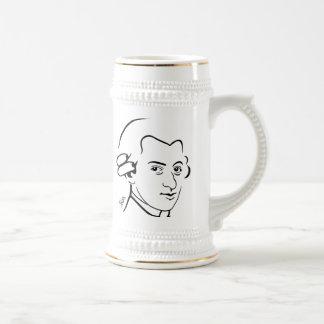 Wolfgang Amadeus Mozart Beer Mug