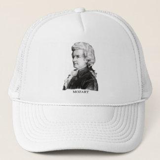Wolfgang Amadeus Mozart, black Trucker Hat
