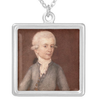 Wolfgang Amadeus Mozart, c.1780 Silver Plated Necklace