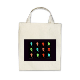 Wolfgang Amadeus Mozart Collage Canvas Bags