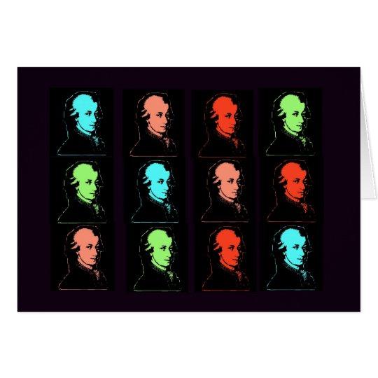 Wolfgang Amadeus Mozart Collage Card