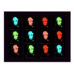 Wolfgang Amadeus Mozart Collage Post Card