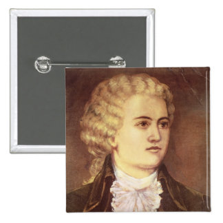 Wolfgang Amadeus Mozart  during his stay 2 Inch Square Button