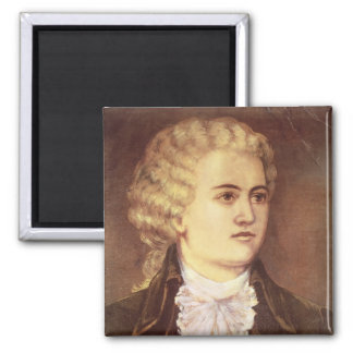 Wolfgang Amadeus Mozart  during his stay Refrigerator Magnet