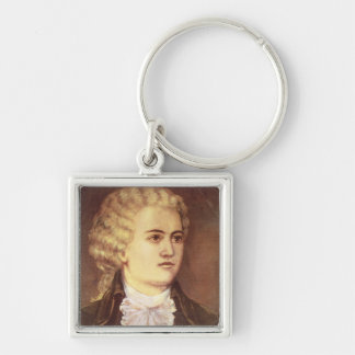 Wolfgang Amadeus Mozart  during his stay Silver-Colored Square Keychain