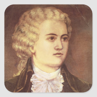 Wolfgang Amadeus Mozart  during his stay Square Sticker