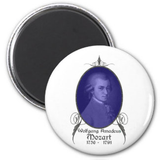 Wolfgang Amadeus Mozart Imán Redondo 5 Cm