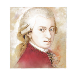 Wolfgang Amadeus Mozart in the water color style Notepad