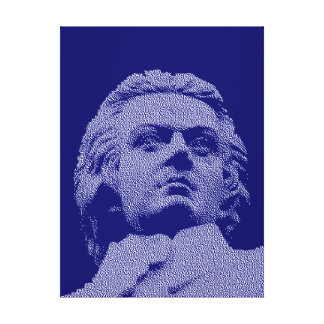 Wolfgang Amadeus Mozart - música clásica Impresión En Lienzo Estirada