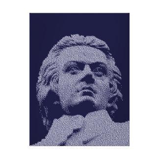 Wolfgang Amadeus Mozart - música clásica Lona Envuelta Para Galerias