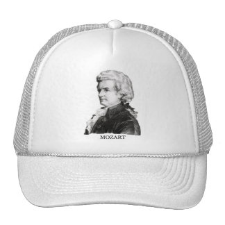 Wolfgang Amadeus Mozart negro Gorras De Camionero