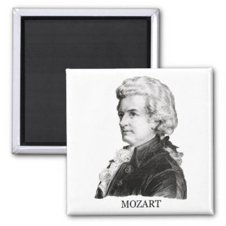 Wolfgang Amadeus Mozart negro Imán De Frigorifico