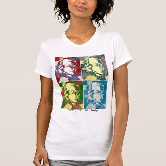 Wolfgang Amadeus Mozart pop art, autographed T-Shirt