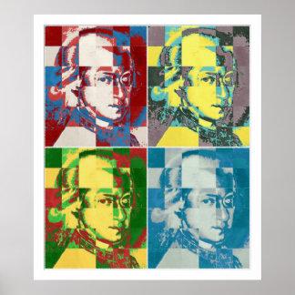 Wolfgang Amadeus Mozart pop art painting Poster