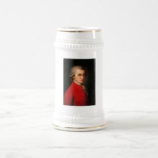Wolfgang Amadeus Mozart portrait Beer Stein