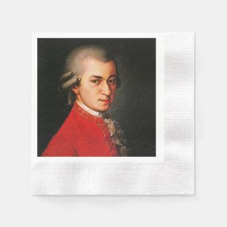 Wolfgang Amadeus Mozart portrait Coined Cocktail Napkin