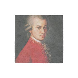 Wolfgang Amadeus Mozart portrait Stone Magnet