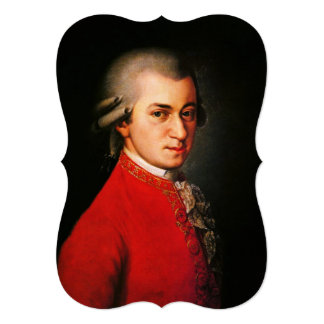 "Wolfgang Amadeus Mozart portrait 5"" X 7"" Invitation Card"