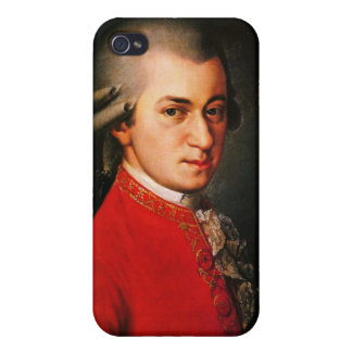 Wolfgang Amadeus Mozart portrait Covers For iPhone 4