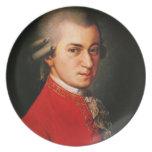 Wolfgang Amadeus Mozart portrait Plate