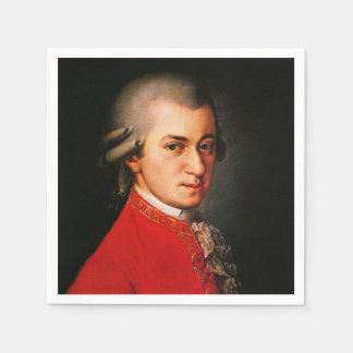 Wolfgang Amadeus Mozart portrait Standard Cocktail Napkin