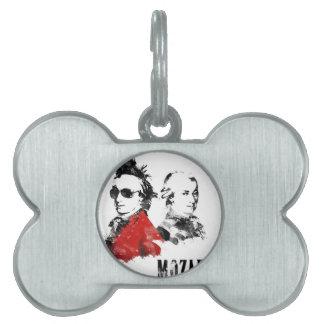 Wolfgang Amadeus Mozart Punk Pet ID Tags