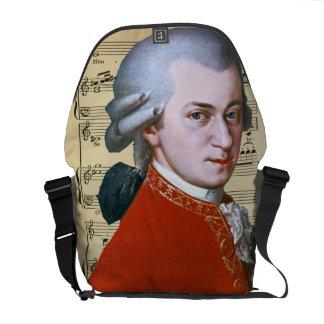 Wolfgang Amadeus Mozart ~ Vintage Courier Bag