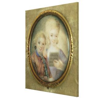 Wolfgang Amadeus Mozart y su hermana Impresiones En Lona Estiradas