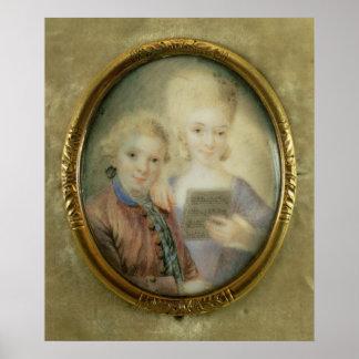 Wolfgang Amadeus Mozart y su hermana Poster