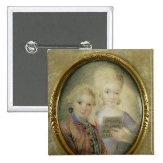 Wolfgang Amadeus Mozart y su hermana Pin