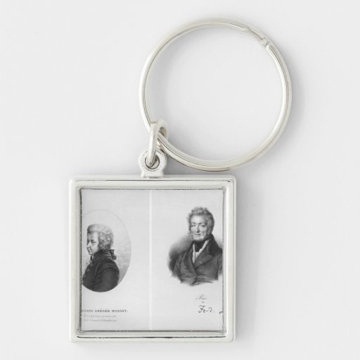 Wolfgang Amedeus Mozart  and Ferdinando Paer Key Chains