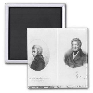 Wolfgang Amedeus Mozart  and Ferdinando Paer Fridge Magnet
