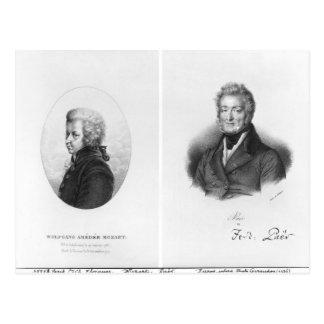 Wolfgang Amedeus Mozart y Ferdinando Paer Postal