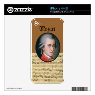 Wolfgang Mozart Electonics Cases and Skins Skins For The iPhone 4S