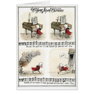 Wolfgang Mozart, tarjeta de la estrella infantil