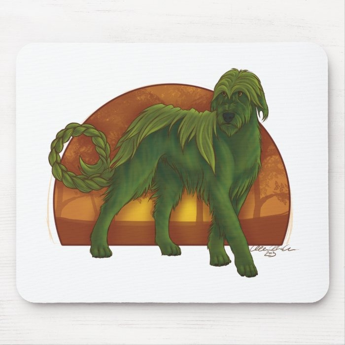 Wolfhound Cù Sìth Mouse Pad