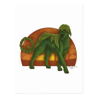 Wolfhound Cù Sìth Postcard