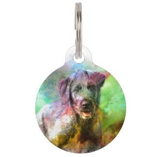 Wolfhound irlandés 001 de la etiqueta del mascota placa de mascota