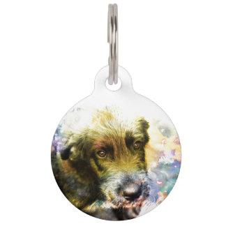 Wolfhound irlandés 002 de la etiqueta del mascota placas para mascotas