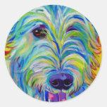 Wolfhound irlandés #1 etiquetas redondas