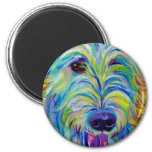 Wolfhound irlandés #1 imán redondo 5 cm