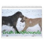 Wolfhound irlandés 2012 calendario de pared