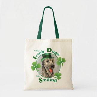 Wolfhound irlandés del día de St Patrick Bolsa Tela Barata