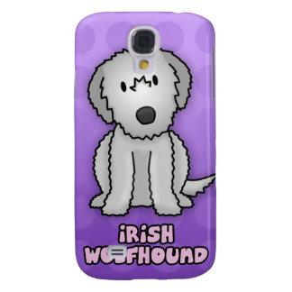 Wolfhound irlandés del dibujo animado púrpura funda para galaxy s4